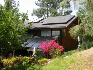 Solar Electric and Solar Domestic Hot Water installation in the La Cañada Hills